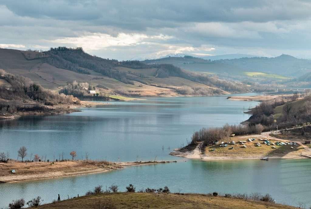 Il lago di Cingoli:il più grande delle Marche