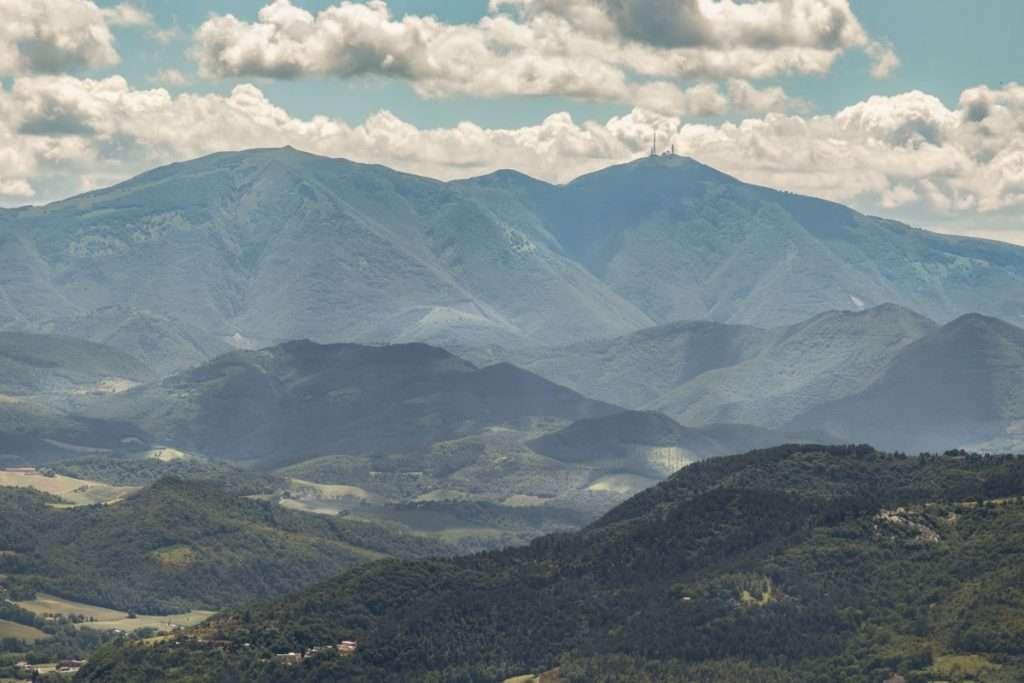 Panorama dalla terrazza panoramica del furlo